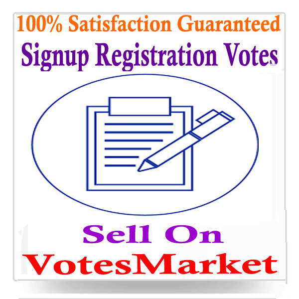 Signup-Registration-Votes